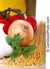 Mediterranean vegetables still life