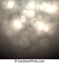 Abstract beige bokeh vector background