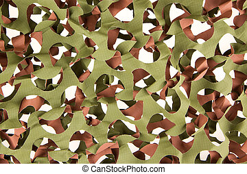 Camouflage net isolated on a white background
