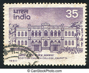 Calcutta - INDIA - CIRCA 1980: stamp printed by India, shows...