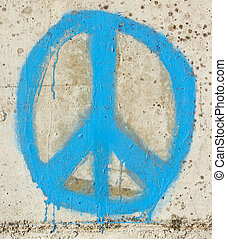 Simple graffity on a concrete wall piece - Simple graffity...