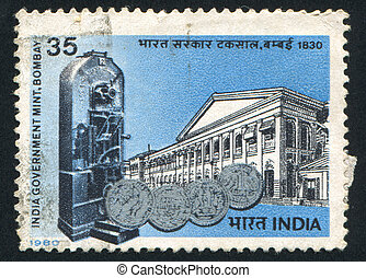 Bombay - INDIA - CIRCA 1980: stamp printed by India, shows...