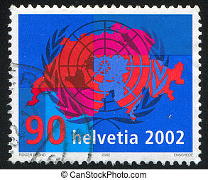 United Nations - SWITZERLAND - CIRCA 2002: stamp printed by...