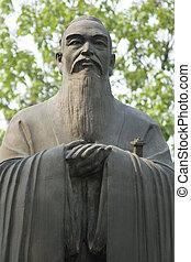 Confucius - An ancient statue of Confucius