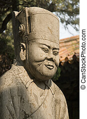 Confucius - An ancient statue of Confucius
