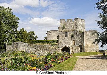Ruins in Gisors (Normandy) - Gisors (Eure, Haute Normandie,...