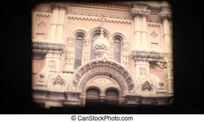 Vintage 8mm. Orthodox church in San Remo, Italy