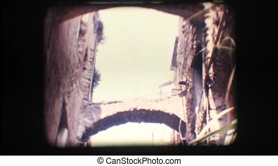 Vintage 8mm. Narrow alley