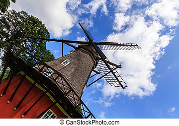 Mill in Kastellet - The mill in the kastellet in Copenhagen,...