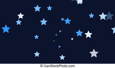 Stars - Small blue stars continuously shoot towards the...