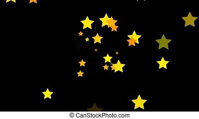 Stars - Small yellow stars continuously shoot towards the...