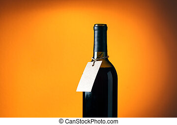 Wine bottle with empty space for your text