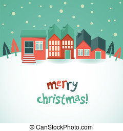 Vector christmas greeting card - Vector greeting card with...