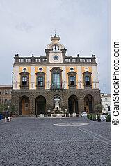 Town Hall Building. Nepi. Lazio. Italy.