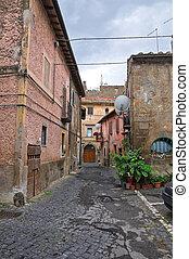 Alleyway. Nepi. Lazio. Italy.
