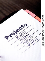 Projects organizer - The first page of projects organizer...