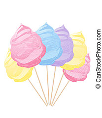 cotton candy - an abstract illustration of a row of colorful...