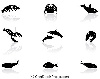 Ocean life icons 2
