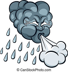 Storm Cloud - Cartoon storm cloud No transparency and...