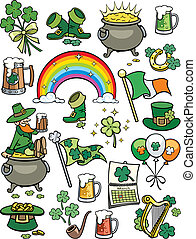 Saint Patricks Day Elements - Set of 20 design elements on...