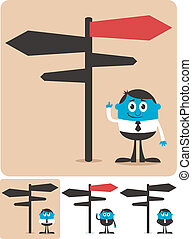Choice and Direction - Conceptual illustration for choice...