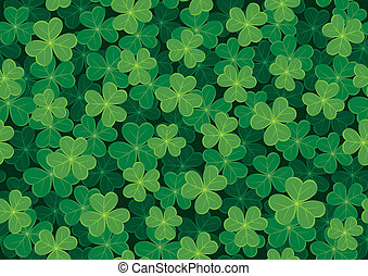 Seamless Clover Pattern - Seamless clover tile. Place them...