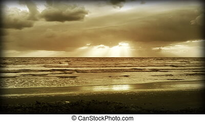 Color Enhanced Beach Sun Rise - Color Enhanced Florida Beach...
