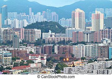 downtown of Hong Kong city