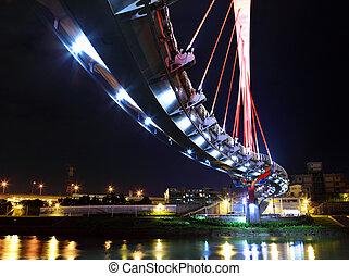 bridge at night in Taiwan