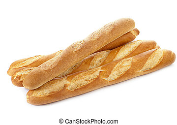 fresh baguettes - Fresh baguettes isolated in a white...