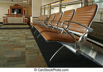 Airport Seating Abstract - Airport Seating and Gate Counter...