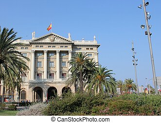 Gobierno militar Barcelona - military government building in...