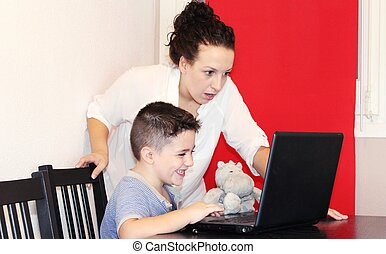 inappropriate content - nanny looking toddler sees...