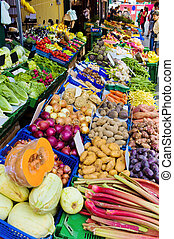 fruit and vegetable market - in a market where fruit and...
