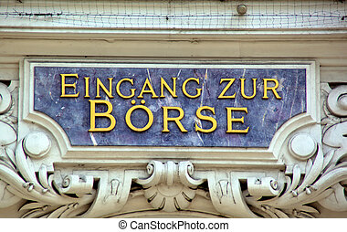 entrance to the stock exchange