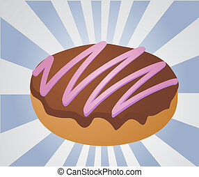 Chocolate icing covered donut