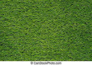 Texture of un-used fiberglass - Artificial Green Grass Field...