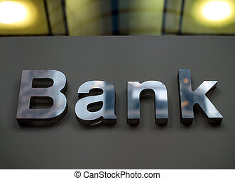 Bank business corporation office sign