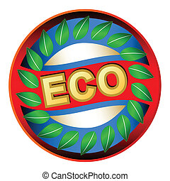 Eco logo - New eco logo on a white background