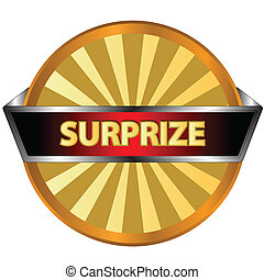 Surprize logo located on a white background