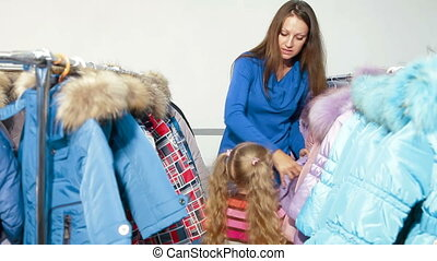Family Shopping For Winter Clothes