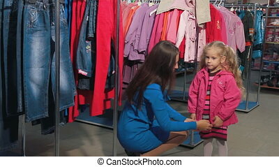 Clothes Shopping - Mother and daughter shopping for clothes...