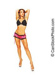 Standing woman in lingeri