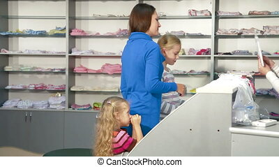 Family Shopping For Girls Clothing