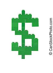 green dollar lego