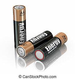 Energy battery - Energy batteries on white backround....