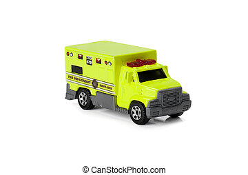 green ambulance truck