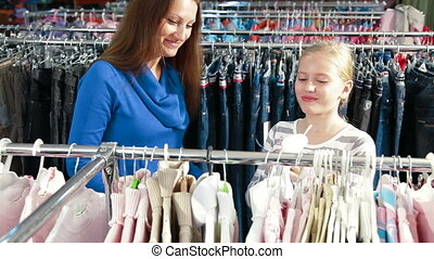Family Shopping For Girls Clothes