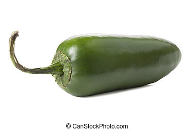 green jalapeno pepper - Close-up image of green jalapeno...