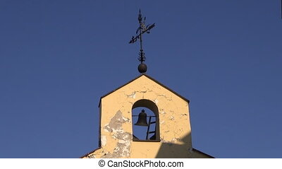 old church bell tower with bell